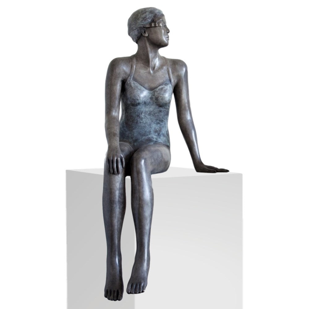 Mela Cooke Bronze Sculpture ~ 'Early Mornings' (1) - Gallery Salamanca Hobart Tasmania