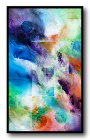 Mitch Miller Abstract Painting ~ 'Fusion' - Gallery Salamanca Hobart Tasmania
