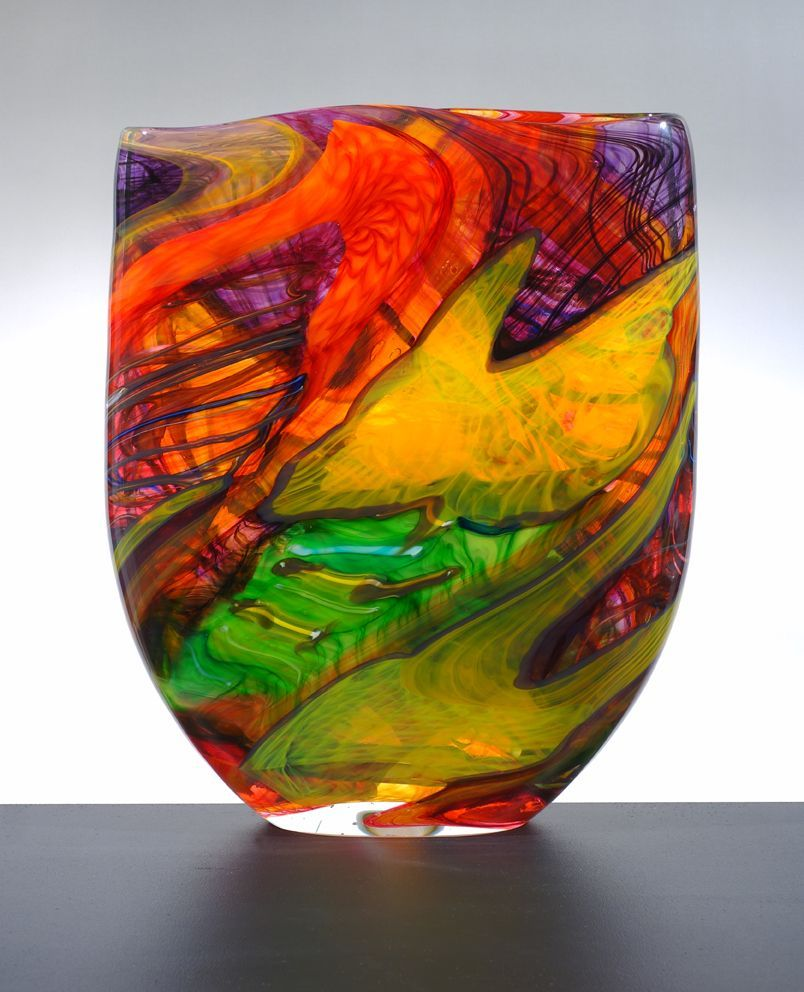 Noel Hart Art Glass ~ 'Mexican Red-Headed Parrot' - Gallery Salamanca Tasmania