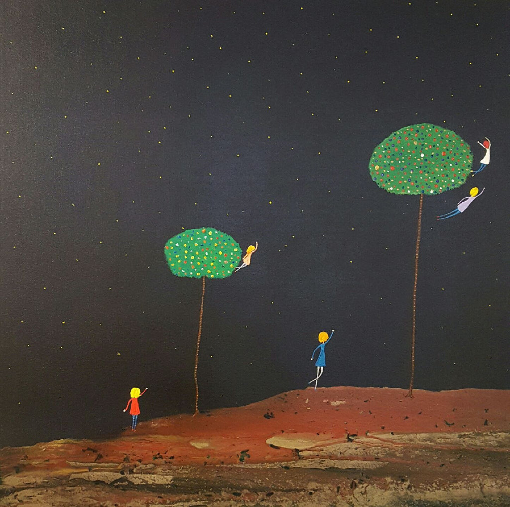 Mark O'Brien (Obie) Painting ~ 'Far Away Trees' - Gallery Salamanca