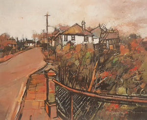 Peter Barraclough Painting ~ 'Gore Street, South Hobart' - Gallery Salamanca Hobart Tasmania