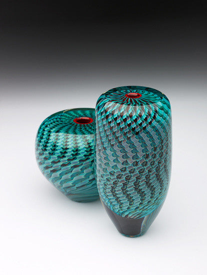 Glass Manifesto ~ Caneworks 'Mini Range' in Teal - Gallery Salamanca