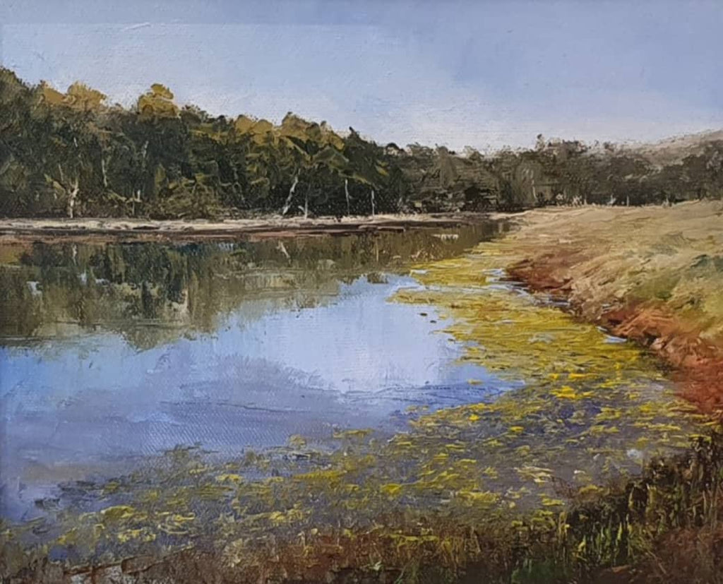 Peter Smith Painting ~ 'Carlton Wetlands' - Gallery Salamanca Hobart Tasmania