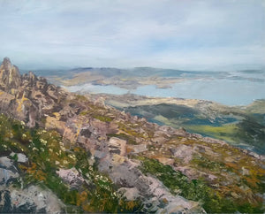 Peter Smith Painting ~ 'From Kunanyi - Mount Wellington' - Gallery Salamanca Hobart Tasmania