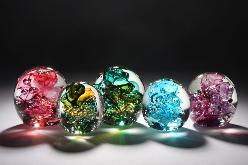 Roberta Easton ~ Bubbly Paperweights - Gallery Salamanca