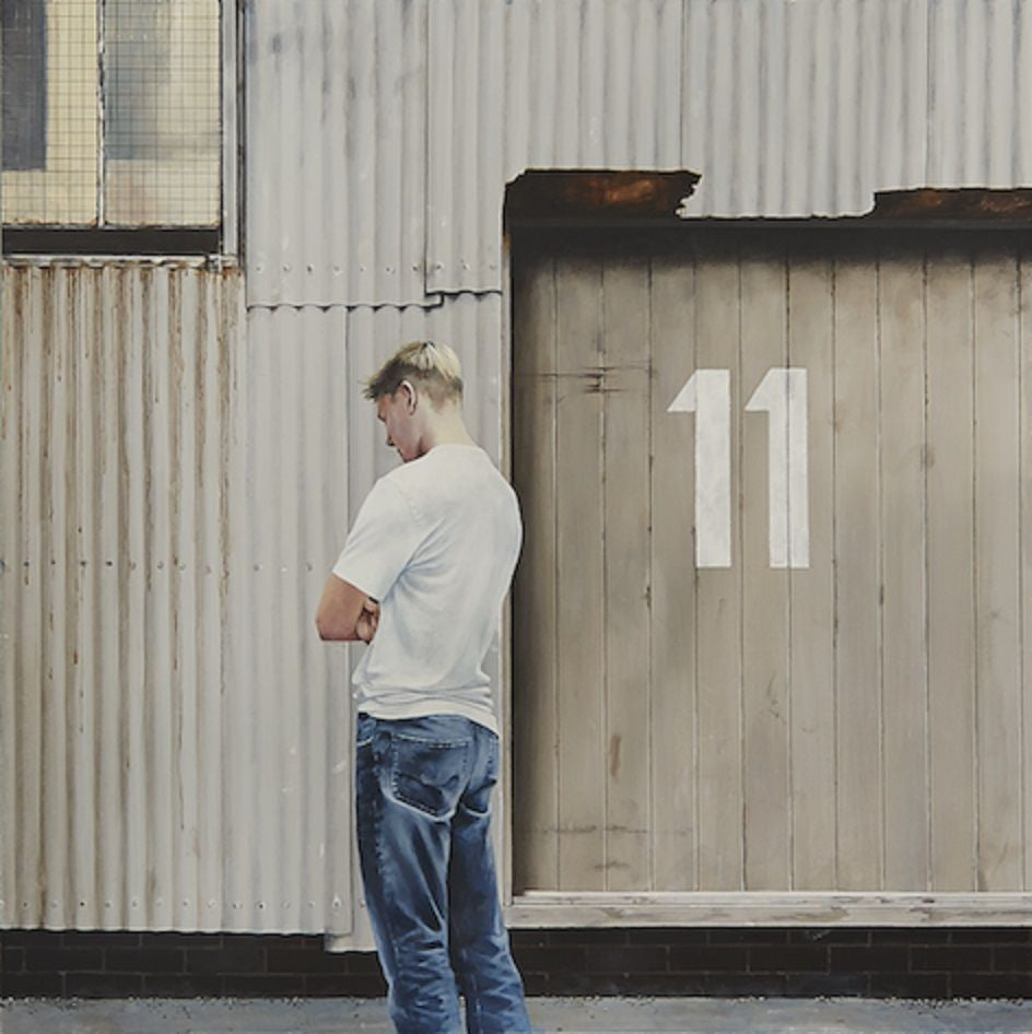 Rex Turnbull Painting ~ 'Boy Outside No. 11'