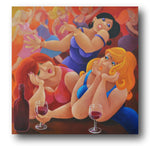 Stef Callaghan Painting ~ 'Girls Night Out' - Gallery Salamanca Hobart Tasmania