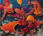 Stef Callaghan Painting ~ 'Rapid Ladies' - Gallery Salamanca Hobart Tasmania