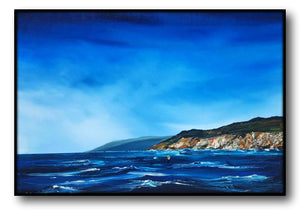Stuart Clues Painting ~  'Afternoon Breeze Across the Capes' - Gallery Salamanca Hobart Tasmania