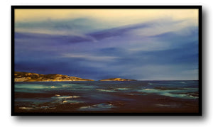 Stuart Clues Painting ~ 'Afternoon at Bay of Fires' - Gallery Salamanca Hobart Tasmania