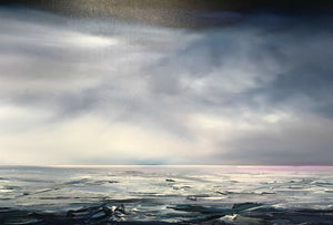 Stuart Clues Painting ~ 'Bass Strait Crossing' - Gallery Salamanca Tasmania