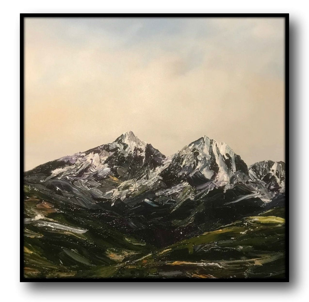 Stuart Clues Painting ~  'Break in the Weather' Hartz Mountain - Gallery Salamanca Hobart Tasmania