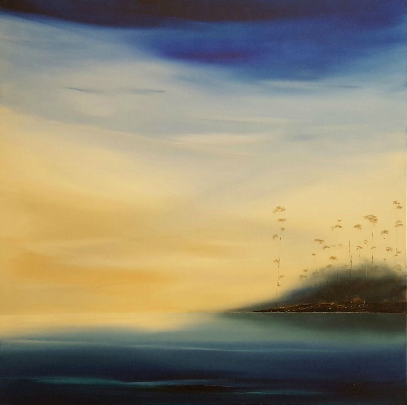 Stuart Clues Painting ~ 'Breath of Morning on the Channel' - Gallery Salamanca Tasmania