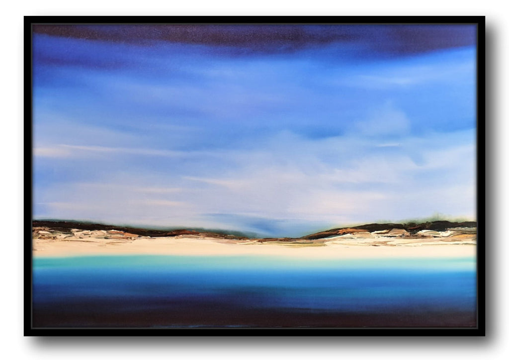 Stuart Clues Painting ~ 'Crossing the Dunes at Seven Mile Beach' - Gallery Salamanca Hobart Tasmania