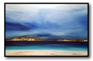 Stuart Clues Painting ~ 'Drifting at Lime Bay' - Gallery Salamanca Hobart Tasmania