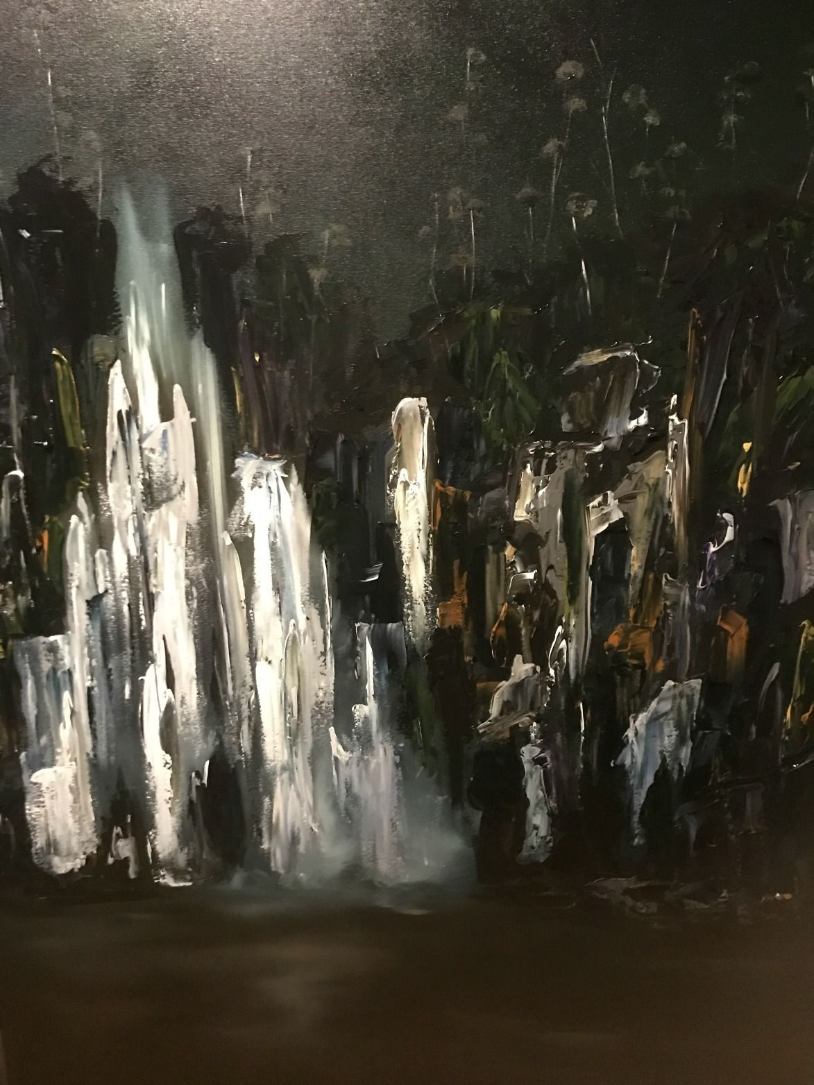 Stuart Clues Painting ~ 'Dusk at Horseshoe Falls' - Gallery Salamanca Tasmania