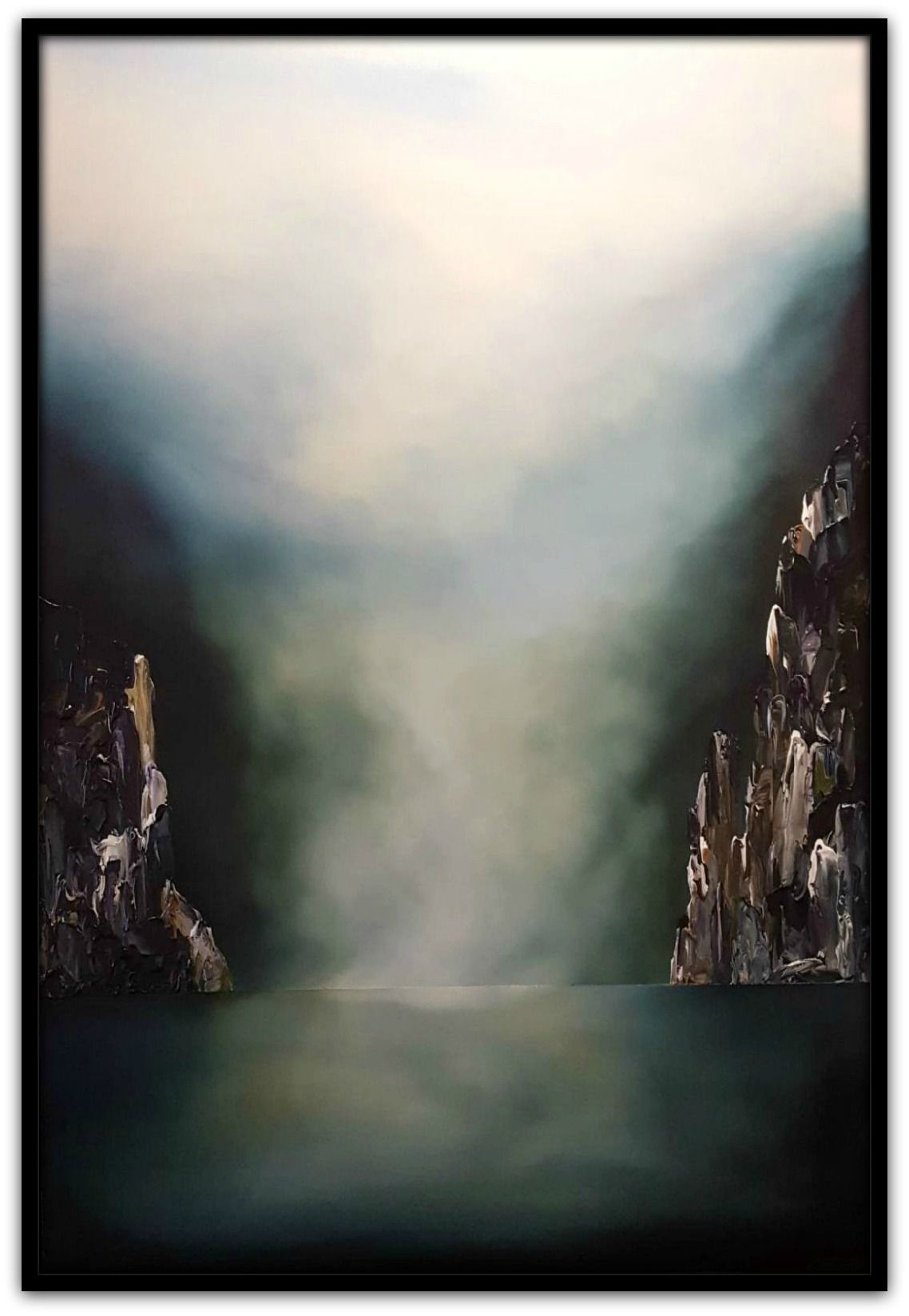 Stuart Clues Painting ~ 'First Light at Cataract Gorge' - Gallery Salamanca Tasmania