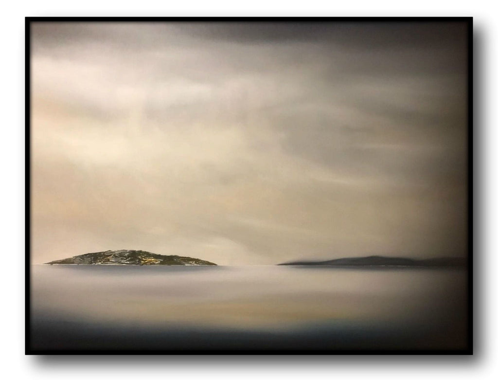Stuart Clues Painting ~ 'First on the Water' Sloping Island - Gallery Salamanca Hobart Tasmania