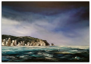 Stuart Clues Painting ~ 'Fisherman's View' - Gallery Salamanca Tasmania