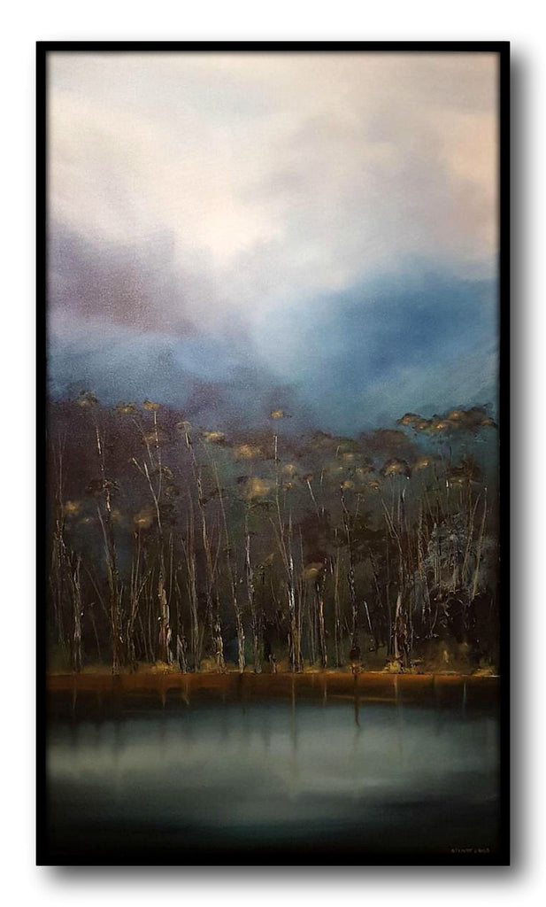 Stuart Clues Painting ~ 'Fortescue Bay' - Gallery Salamanca Hobart Tasmania
