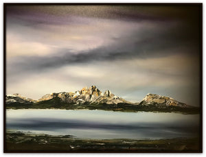 Stuart Clues Painting ~ 'Lake St Clair and the Labyrinth' - Gallery Salamanca Tasmania