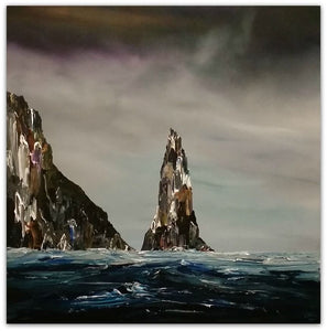 Stuart Clues Painting ~ 'Life on the Cape' - Gallery Salamanca Tasmania