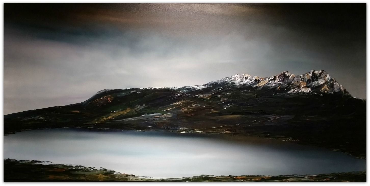 Stuart Clues Painting ~ 'London Lakes - Central Highlands' - Gallery Salamanca
