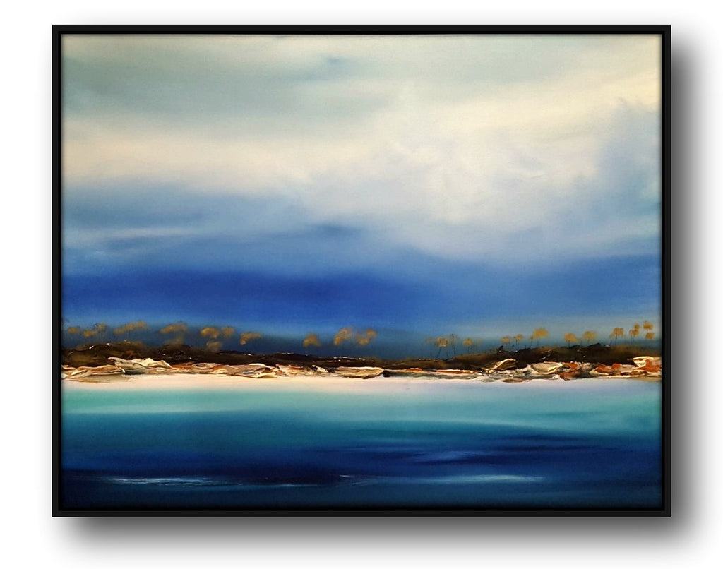 Stuart Clues Painting ~ 'Moments' - Bay of Fires - Exhibiting at Gallery Salamanca Hobart Tasmania