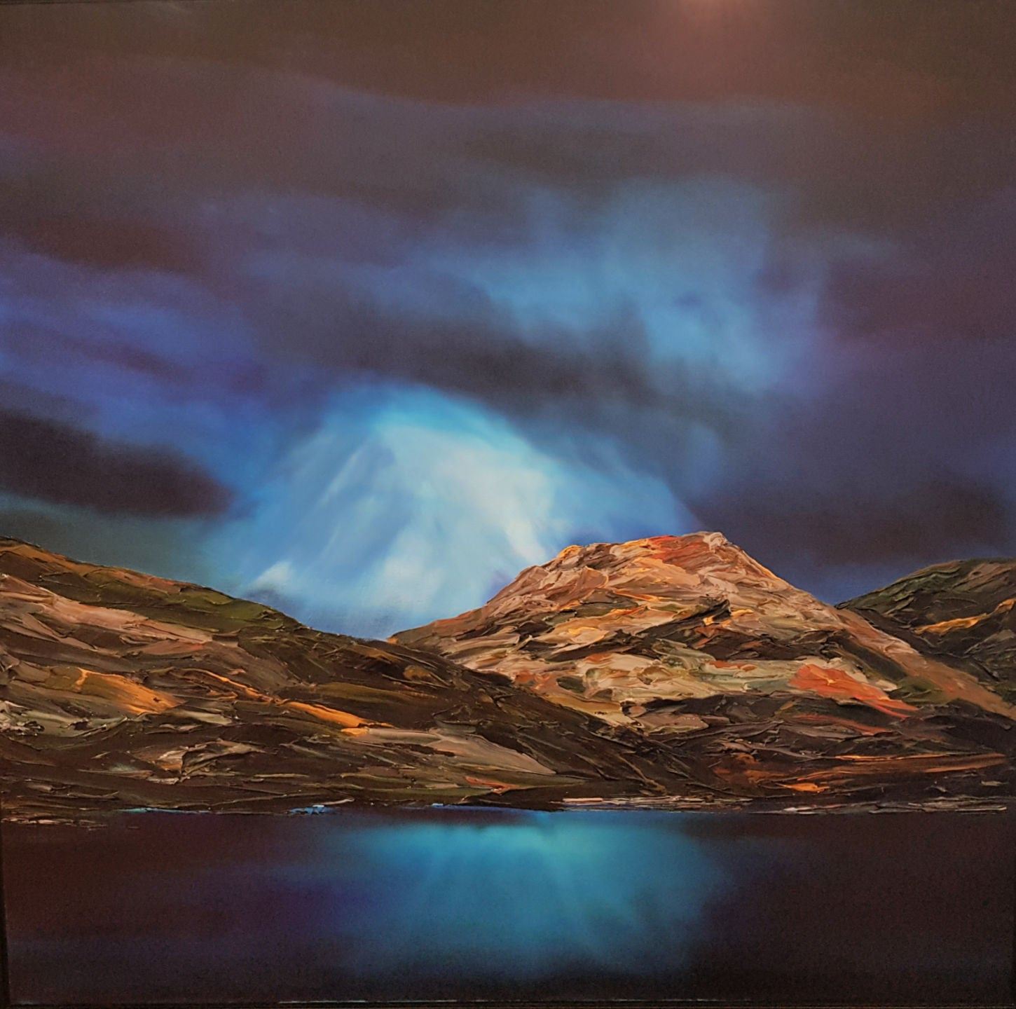 Stuart Clues Painting ~ 'Moonshadow Over Mt. Amos' - Gallery Salamanca Hobart Tasmania