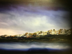 Stuart Clues Painting ~ 'Muted Light Falls, Lake Pedder' - Gallery Salamanca Tasmania