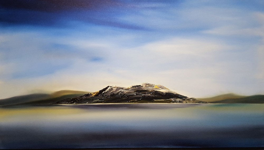 Stuart Clues Painting ~ 'Scott's Peak - Lake Pedder' - Gallery Salamanca Hobart Tasmania