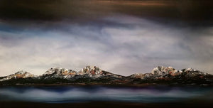 Stuart Clues Painting ~ 'Shadows of Lake St Clair' - Gallery Salamanca Tasmania