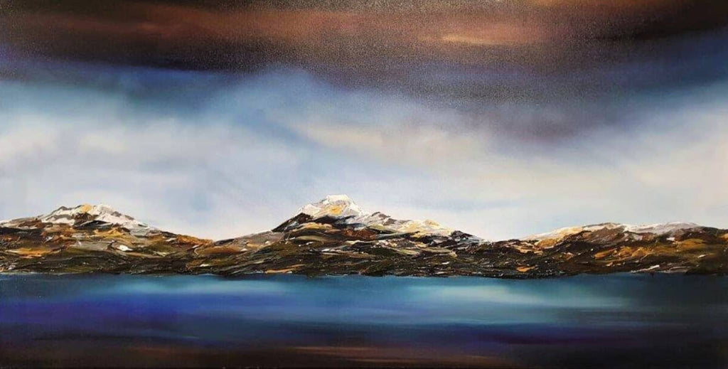 Stuart Clues Painting ~ 'Snow Drift at Lake St. Clair' - Gallery Salamanca Hobart Tasmania