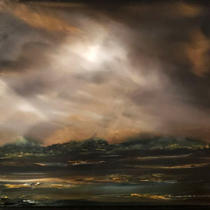 Stuart Clues Painting ~ 'Summer Fires - Lake District' - Gallery Salamanca Hobart Tasmania