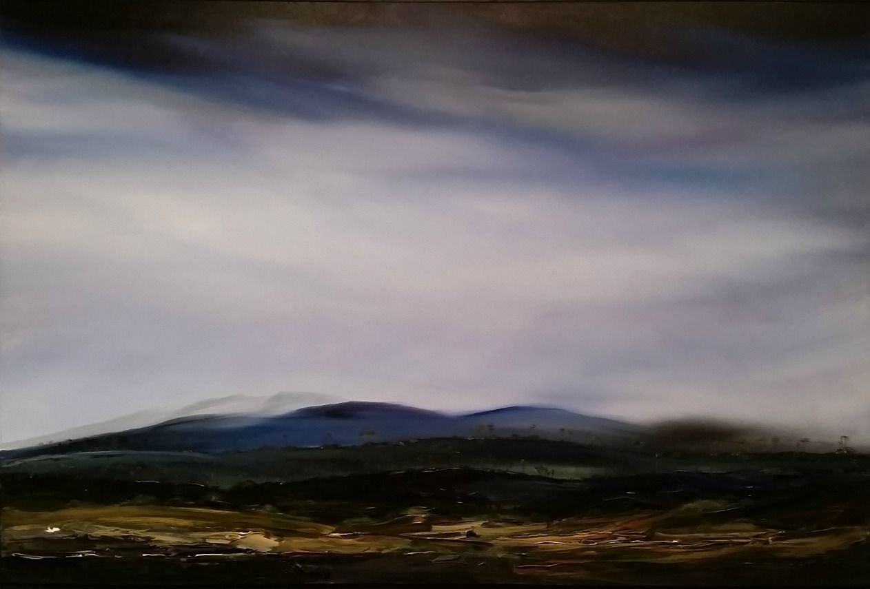 Stuart Clues Painting ~ 'Symphony of Light Over Western Tiers' - Gallery Salamanca Tasmania