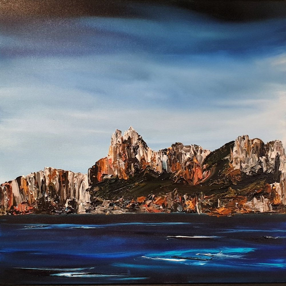 Stuart Clues Painting ~ 'Three Capes' - Gallery Salamanca Hobart Tasmania