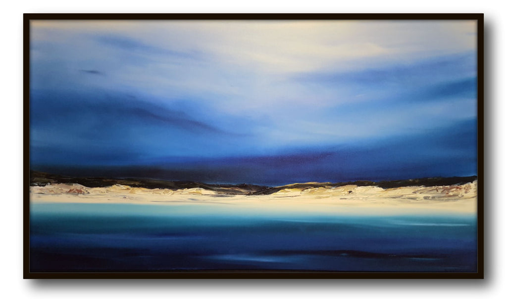 Stuart Clues Painting ~ 'Waking at Bay of Fires' at Gallery Salamanca
