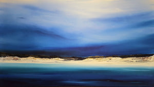 Stuart Clues Painting ~ 'Waking at Bay of Fires' - Gallery Salamanca Hobart Tasmania