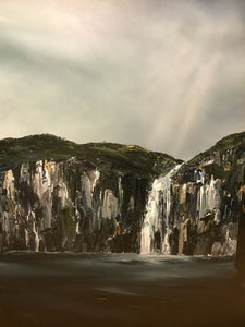 Stuart Clues Painting ~ 'Waterfall Bay' - Gallery Salamanca Tasmania