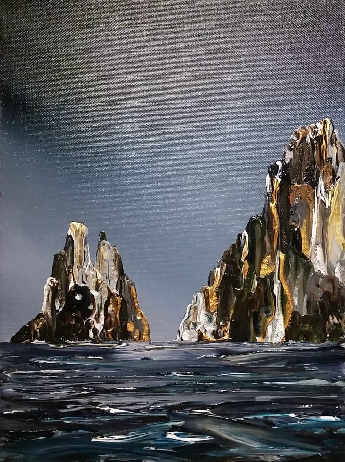 Stuart Clues Painting ~ 'Winter Days - Cape Raoul' - Gallery Salamanca Tasmania