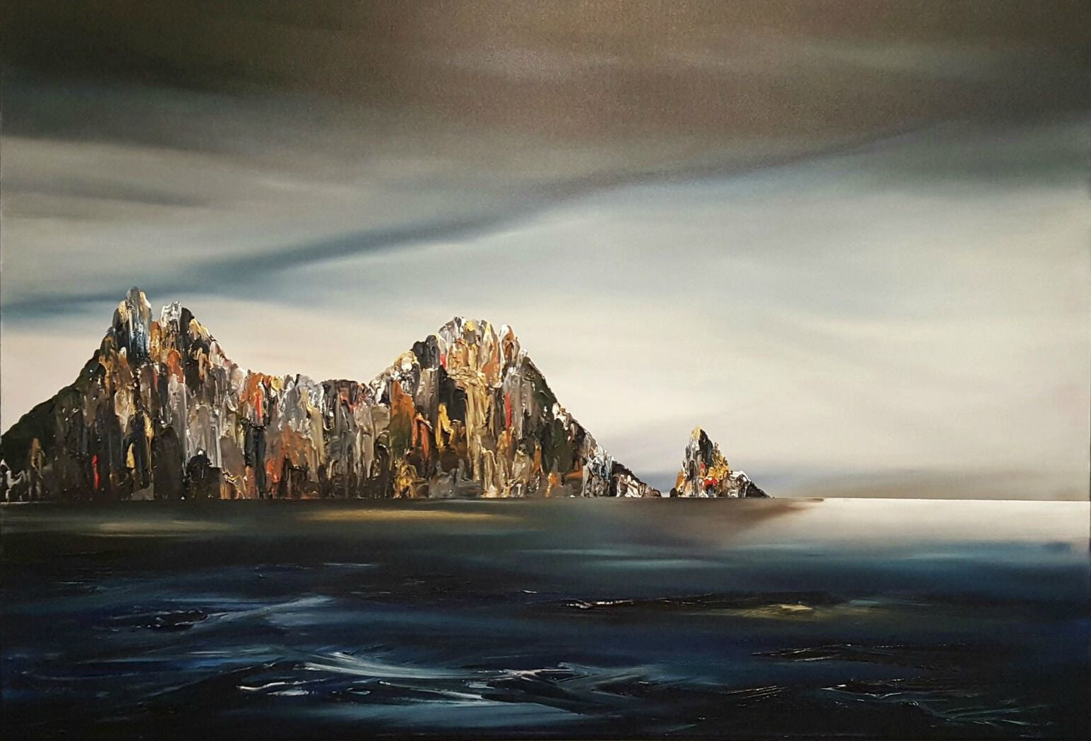 Stuart Clues Painting ~ 'Still Days at Cape Raoul' - Gallery Salamanca