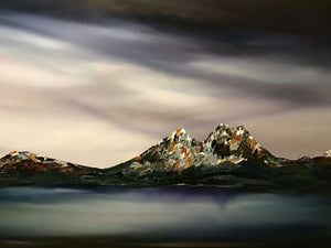 Stuart Clues Painting ~ 'Approaching Storm, Cradle Mountain' - Gallery Salamanca Tasmania