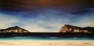 Stuart Clues Painting ~ 'Refuge at Cloudy Bay, Bruny Island' - Gallery Salamanca Tasmania
