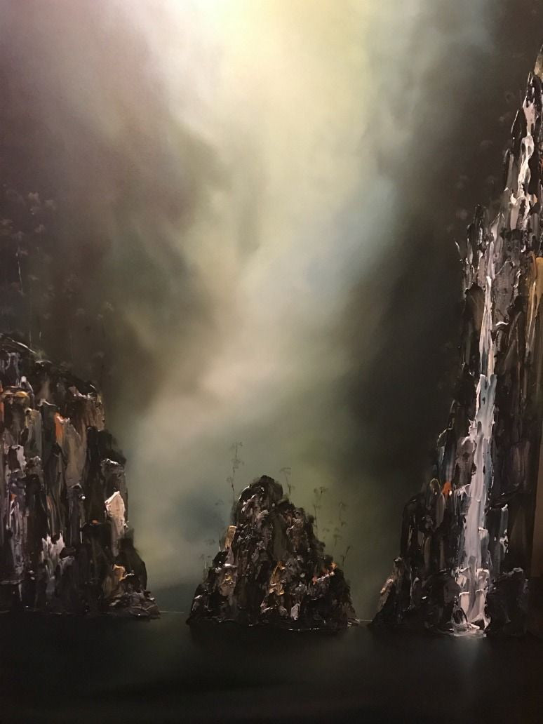 Stuart Clues Painting ~ 'The Bend - Gordon River' - Gallery Salamanca Tasmania