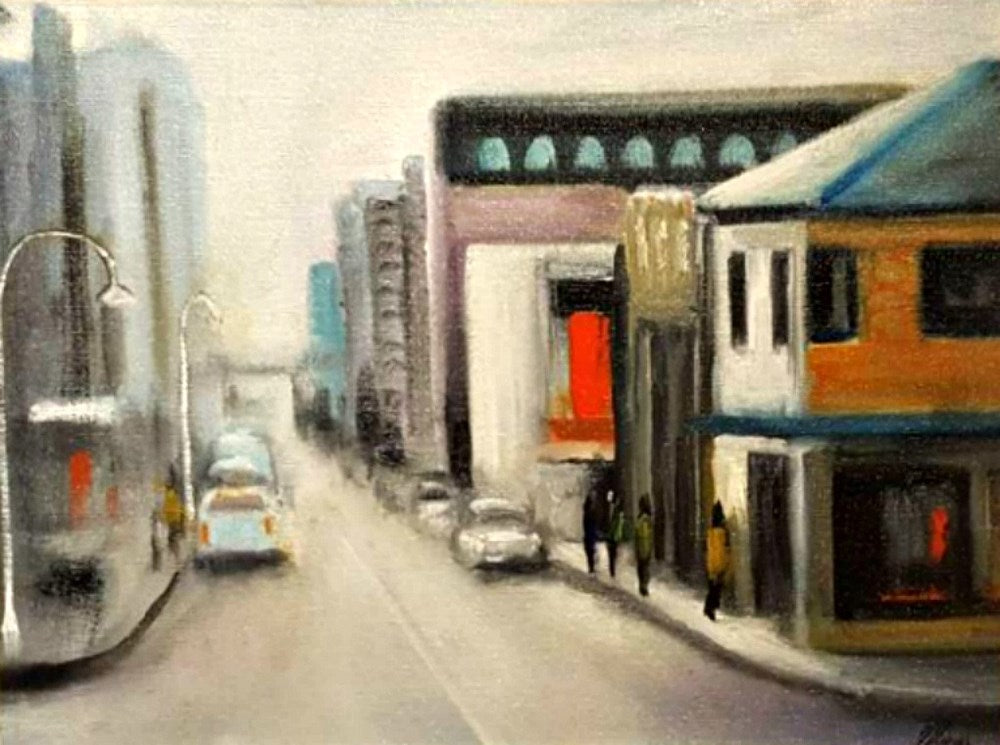 Tony Ryan Painting ~ 'A Little Touch of Hobart' - Gallery Salamanca Hobart Tasmania
