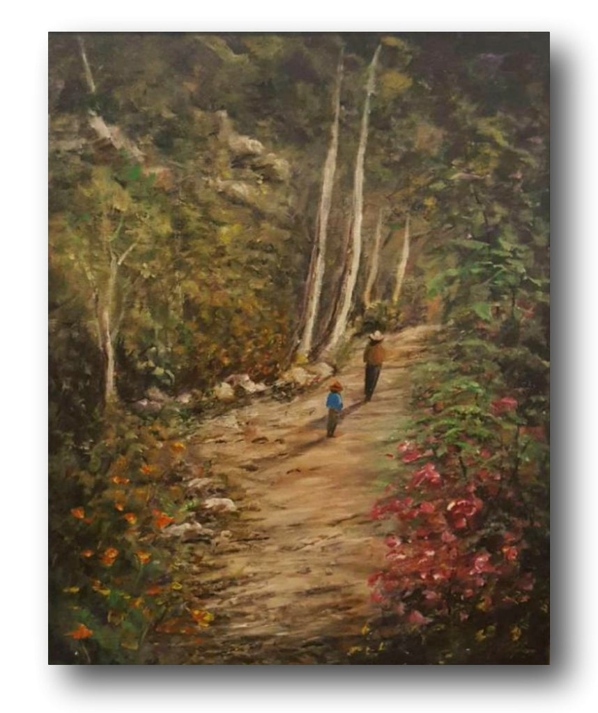 Tony Ryan Painting ~ 'The Bush Walk I' - Gallery Salamanca Hobart Tasmania
