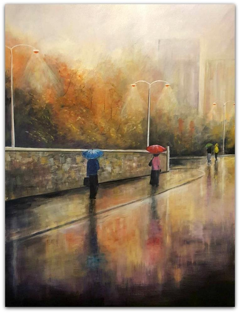 Tony Ryan Painting ~ 'Evening Glow' - Gallery Salamanca Hobart Tasmania