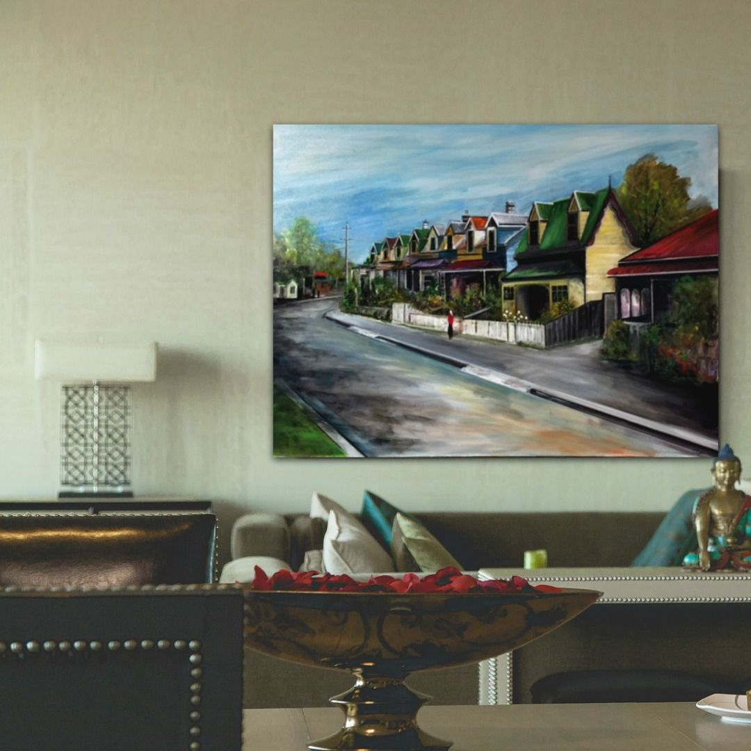 Tony Ryan Painting ~ 'Quayle Street, Sandy Bay' - Gallery Salamanca