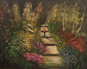 Tony Ryan Painting ~ 'The Bush Garden Walk' - Gallery Salamanca Hobart Tasmania