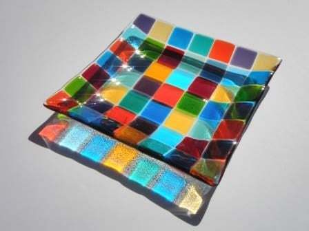 Wendy Helleman Glass - Mosaic Range of Plates - Gallery Salamanca